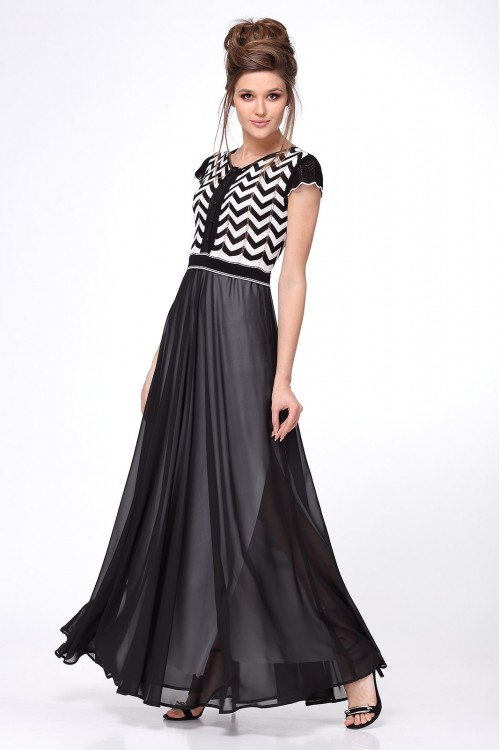 Платье женское C2636 из белорусского трикотажа купить оптом и в розницу