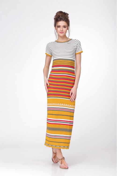 Платье женское C2585 из белорусского трикотажа купить оптом и в розницу